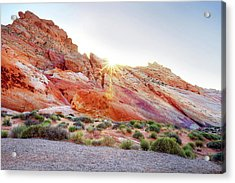 Rainbow Rocks At Valley Of Fire Acrylic Print