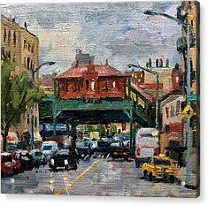 Rainy Morning 238th Street The Bronx Acrylic Print