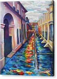 Rainy Pirate Alley Acrylic Print