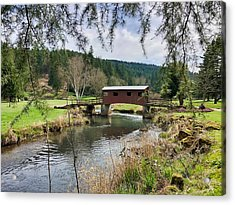 Ranch Hills Covered Bridge Acrylic Print