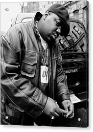 Rapper Notorious B.i.g., Aka Biggie Acrylic Print