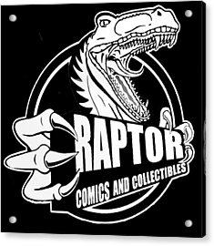 Raptor Comics Black Acrylic Print