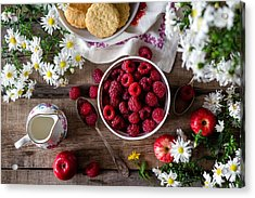 Acrylic Print featuring the photograph Raspberry Breakfast by Top Wallpapers