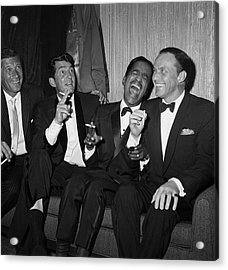 Rat Pack At Carnegie Hall Acrylic Print by Bettmann