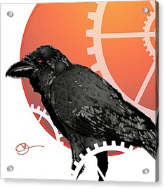 Acrylic Print featuring the mixed media Raven Craft by Lucas Boyd