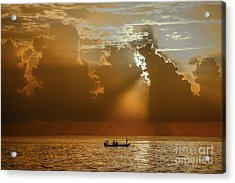Acrylic Print featuring the photograph Rays Light The Way by Tom Claud