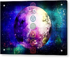 Acrylic Print featuring the digital art Reach Out To The Stars by Bee-Bee Deigner