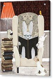 Reading Time Acrylic Print by Bri Buckley