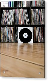 Records Leaning Against Shelves Acrylic Print