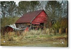 Red Barn Acrylic Print by Elijah Knight