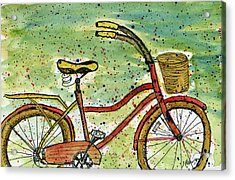 Red Bicycle Yellow Seat Acrylic Print