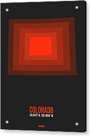 Red Colorado Map Acrylic Print