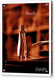 Red Definition Of Beauty Acrylic Print