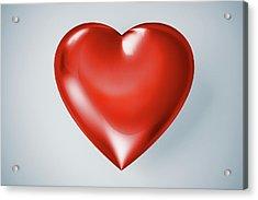 Red Heart, Artwork Acrylic Print by Leonello Calvetti