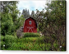 Red House Over Yonder Acrylic Print