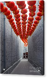 Red Lantern In The Alley,beijing Acrylic Print