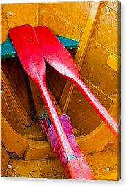 Red Oars Acrylic Print