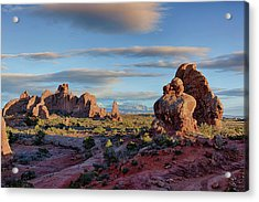 Acrylic Print featuring the photograph Red Rock Formations Arches National Park  by Nathan Bush