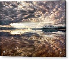 Red Rock Lake Sunrise Acrylic Print by Leland D Howard