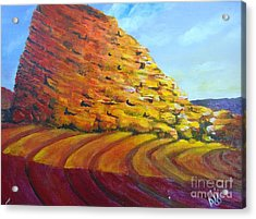 Acrylic Print featuring the painting Red Rocks by Saundra Johnson