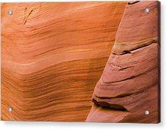 Red Sandstone Slot Canyon Acrylic Print