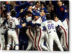 Red Sox V Mets Acrylic Print by T.g. Higgins