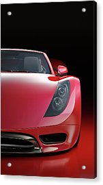 Red Sports Car Acrylic Print by Mevans