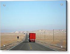Red Truck Brightens Up Pan American Acrylic Print by Rosemary Calvert