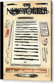 Redacted Cover Acrylic Print by Barry Blitt