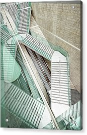 Reflected Modern Architecture - Winding Acrylic Print by Georgeclerk