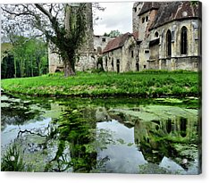 Reflection Of An Ancient Castle Acrylic Print