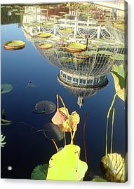 Reflection Of Botanical Garden Acrylic Print by Margaret Mendel