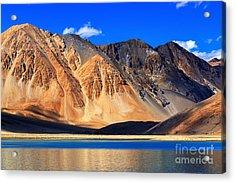 Reflection Of Mountains On Pangong Tso Acrylic Print