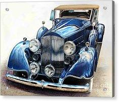 Reflection On Blue Acrylic Print