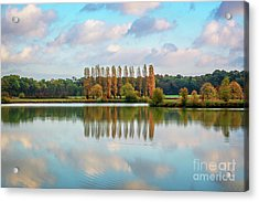 Reflections Of Clouds In A Pond Acrylic Print