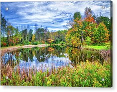Acrylic Print featuring the photograph Reflections Of Fall In The Finger Lakes by Lynn Bauer