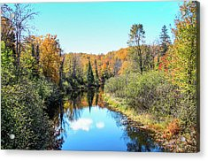 Reflections Of Fall In Wisconsin Acrylic Print