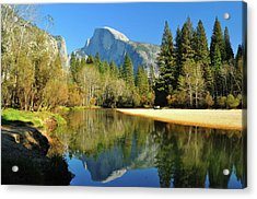 Reflections Of Half Dome Acrylic Print