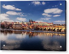 Reflections Of Prague Acrylic Print by Andrew Soundarajan