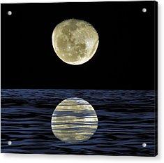 Reflective Moon Acrylic Print
