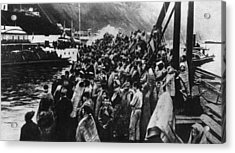 Refugees Acrylic Print by Hulton Archive