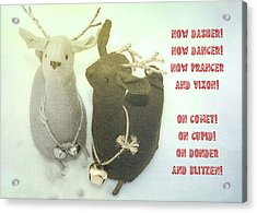 Reindeer Dash Quote Acrylic Print by JAMART Photography
