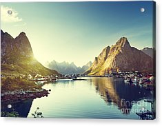 Reine Village, Lofoten Islands, Norway Acrylic Print