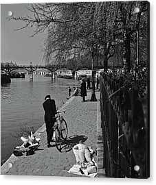 Relaxing By The Seine Acrylic Print