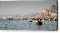 Acrylic Print featuring the photograph Religious River Of Ganges In India by Michalakis Ppalis