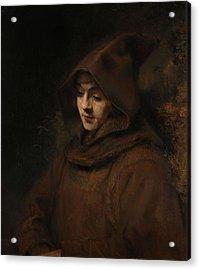 Rembrandt's Son Titus In A Monk's Habit. Titus In Monk's Habit. Acrylic Print