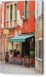 Restaurant In Venice Acrylic Print
