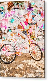Retro City Cycle Acrylic Print