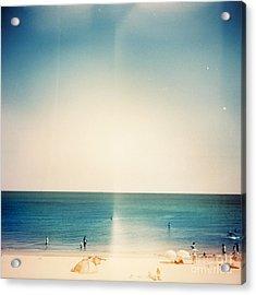Retro Medium Format Photo. Sunny Day On Acrylic Print