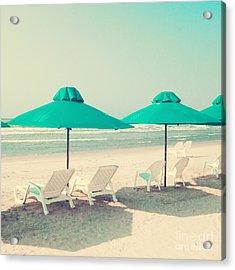 Retro Pastel Beach Acrylic Print by Andrekart Photography
